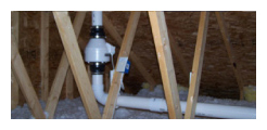 Radon Removal Attic Piping